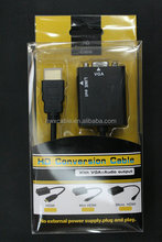 HDMI TO VGA converter price Plus 3.5mm Audio Cable for HDTV PC Black New