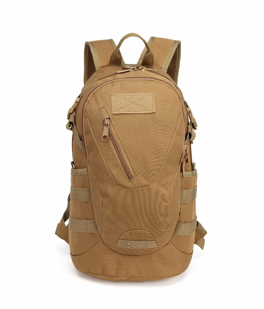 20L waterproof outdoor urban rucksack 600D tactical small military backpack Tan