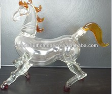 500ml 750ml 1000ml art glass wine bottle horse dragon bull goat design