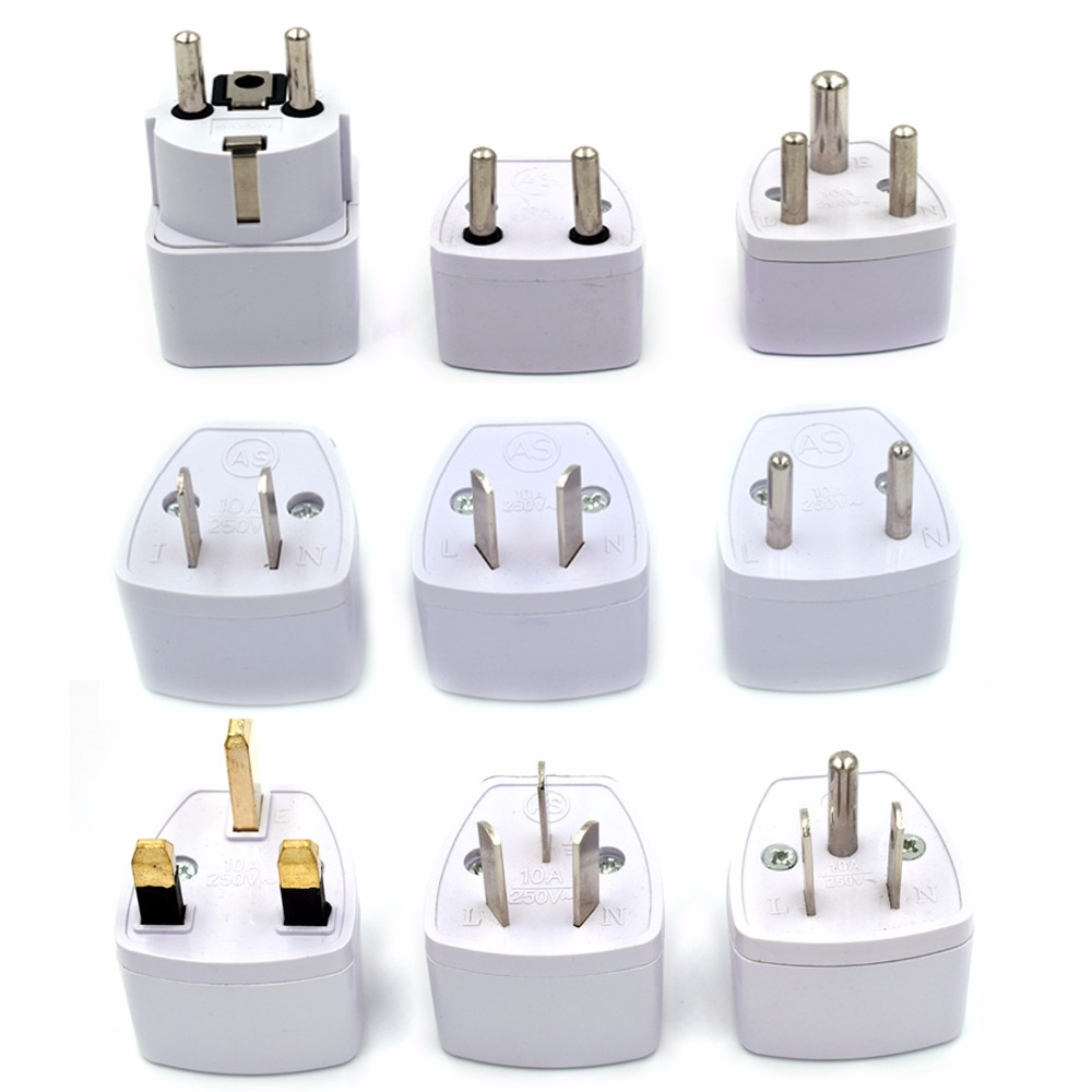 New Universal Travel Charger Power Converter, US UK EU Plug Wall Travel Adapter for Mobile Phone