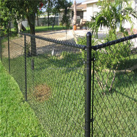 High quality vinyl coated chain link fence for residential or commmercial application