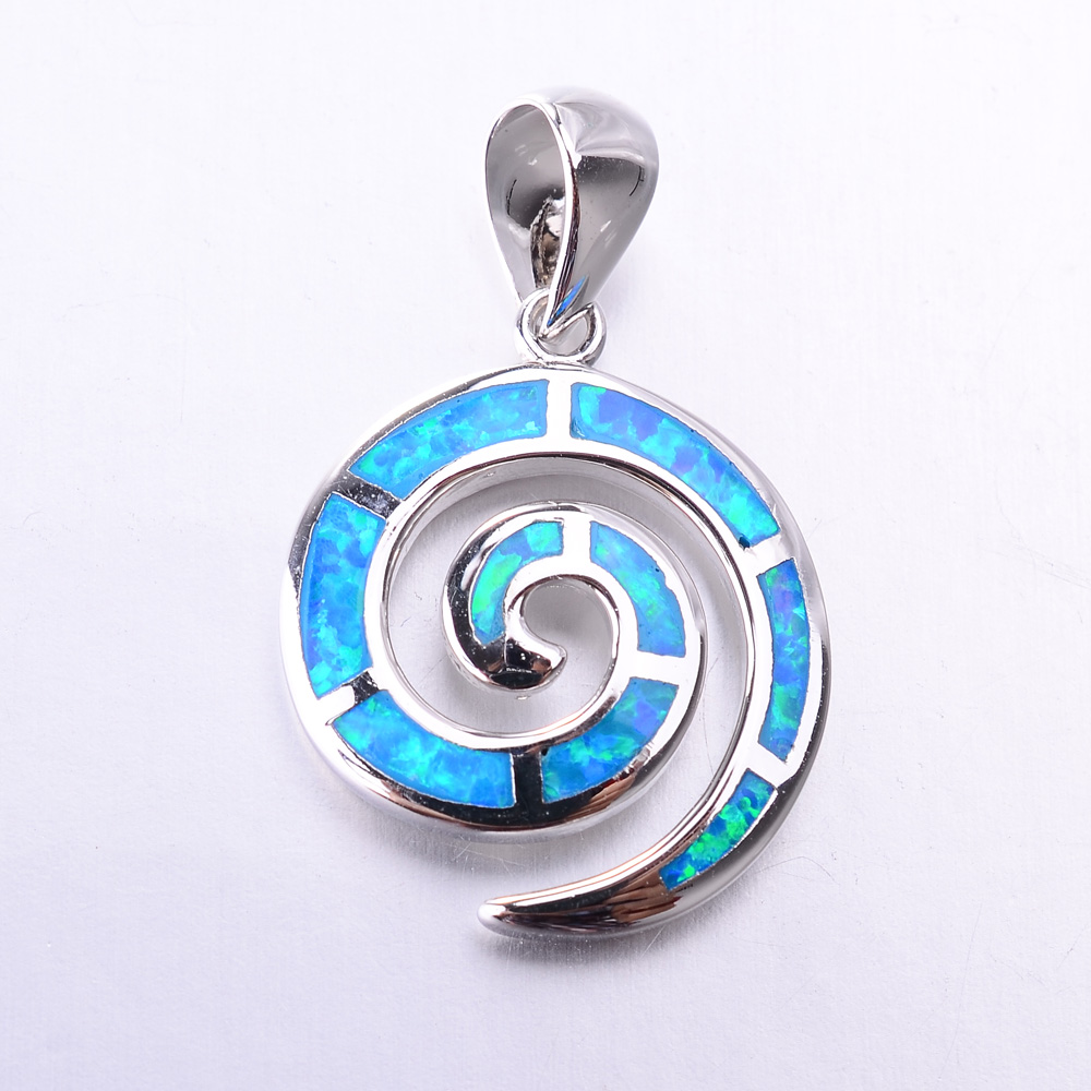 Guangzhou jewelry factory Wholesale 925 Silver Blue Fire Opal Pendants