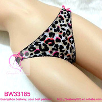 Naughty sexy girls front leopard back lace underwear