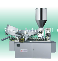 2 Filling Nozzle Filling and Sealing Machine for Toothpaste Tube