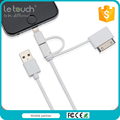 Gold supplier function cable 2.4A fast charge 3 in 1 for charger cable cover iphone