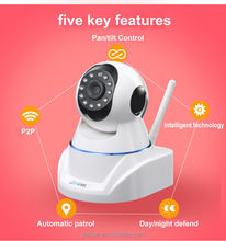 Pan Tilt Wireless Two Way Audio IP Camera Infrared H.264 HD HIidden Baby Monitor Wireless Webcam
