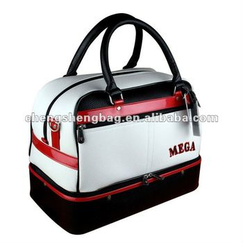 OEM PU leather Golf Boston Bag