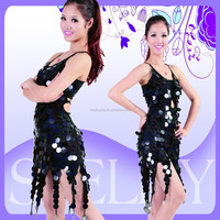 Wholesale cheap women sexy sequin short ballroom latin dance dress for competition