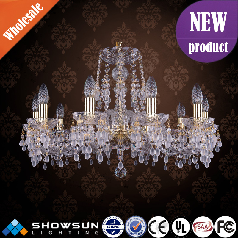 Wedding art decoration unique raindrop bohemia crystal chandelier