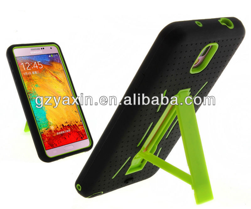 For Galaxy note 3 rubberize phone case / customize available kickstand case for Samsung galaxy note 3 cover
