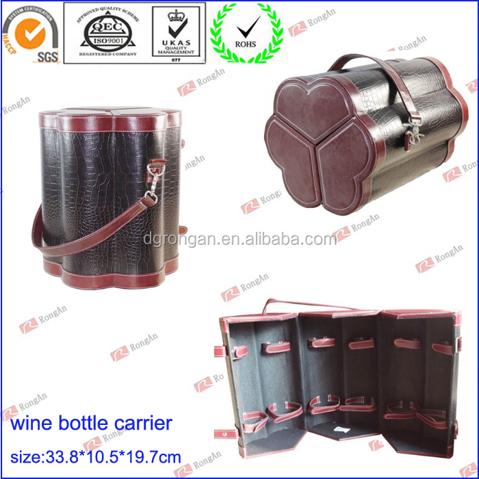 Luxury leather wine carrier for 6 bottles D06-151046