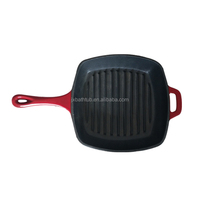 China Supplier Red Enamelled Cast Iron Skillet /Cast Iron Cookware