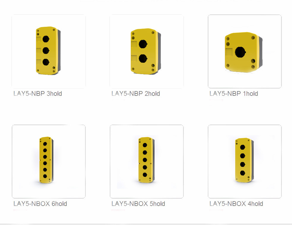 LAY5-JBPN2 IP54 two holes 22mm push button control box parts accessories enclosure plastic box enclosure electronic