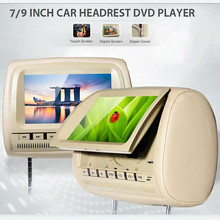 7 Inch Car dvd Headrest Monitor Display 7'' LCD Monitor Display Car Pillow Monitor Support USB MP3 MP5 Automobile Audio Styling
