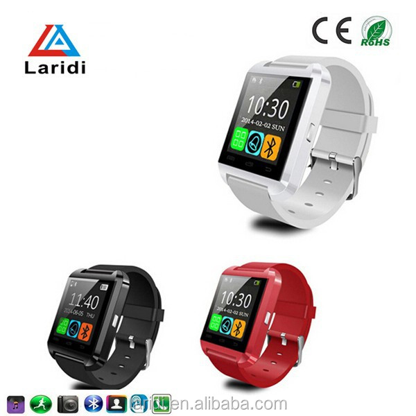 2015 hot selling andriod smart watch bluetooth phone U8 watches men mede in shenzhen support android cellphone