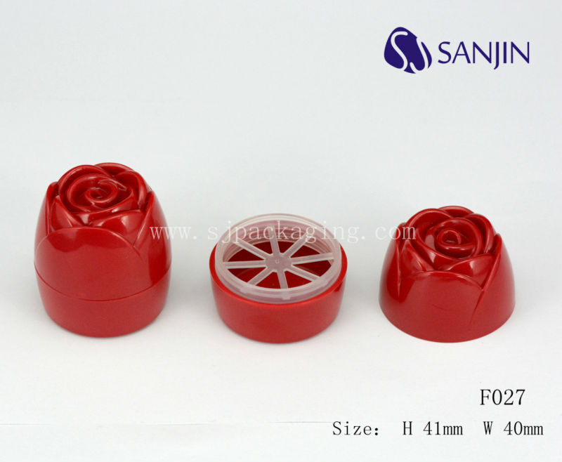 Plastic Cute Rose Shape Lip Balm Case