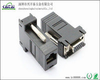 RS232 to RJ45 connector,DB9f,DVI and VGA adapters