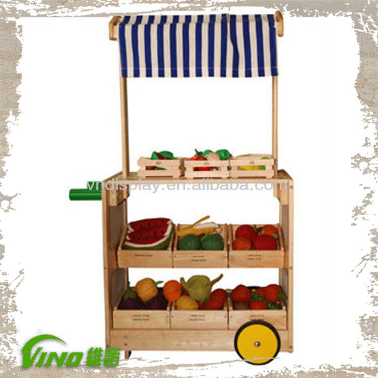 madera cajas de madera para frutas verduras decoracin carro de madera carro de la compra