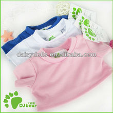 white toy doll t shirt for 15 inch teddy bear