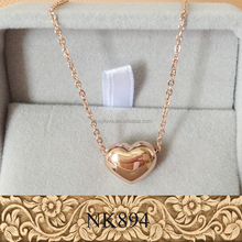 Best gift for girlfriend stainless steel rose gold heart pendant necklace