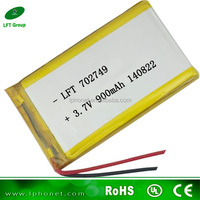 702749 3.7v 900mah polymer lithium rechargeable masturbator male battery