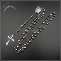 fashionable designer stainlesss steel rosary necklace