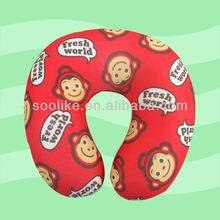 New pattern printed U shape polyester pillow good for kids neck rest