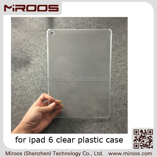MIROOS OEM matte transparent hard PC for ipad 6 case