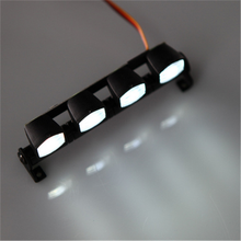 New AX-505 Multi-function Ultra Bright LED Lamp light for 1/10 1/8 CC01 4WD Axial SCX10 RC Model Car