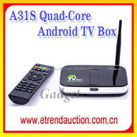 CS918S Allwinner A31 Quad Core Android 4.2.2 OS Mini TV BOX 2G/16G BT RJ45 5.0MP Camera and MIC External WIFI Antenna - Black