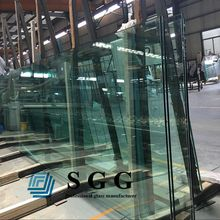 19mm jumbo size tempered glass clear toughened glass panels