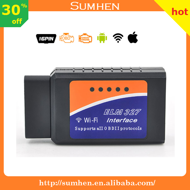 High Quality V1.5 ELM327 WIFI/Bluetooth OBD2 OBDII Diagnostic Tool ELM 327 PIC18F25K80 Wifi Wireless for Android/IOS Code Reader