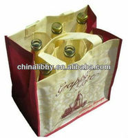 Promotional non woven beer bottle carrier