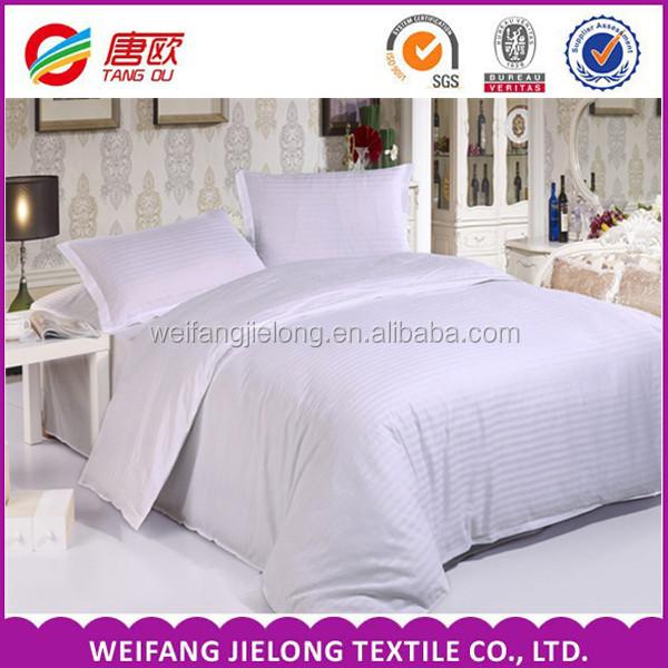 High Quality Hotel Bedding Satin 100 Cotton Stripe Fabric