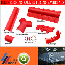 JuLi green spanish roof tile/plastic roofing material/ASA+upvc roof tile