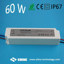 Mini size 100-240VAC 47 to 63 Hz led power supply, 60w led driver for samsung smd led light