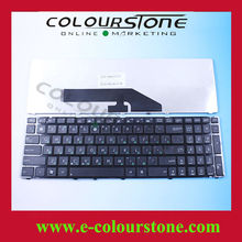Notebook Keyboard For Asus K50 Black With Frame Russian RU Layout 0KN0-G31US11