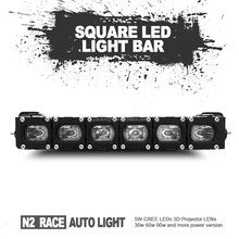 N2 Wholesale IP68 5d led spot light 60 watt single row off-road led bar 20 inch for 4-wheeler