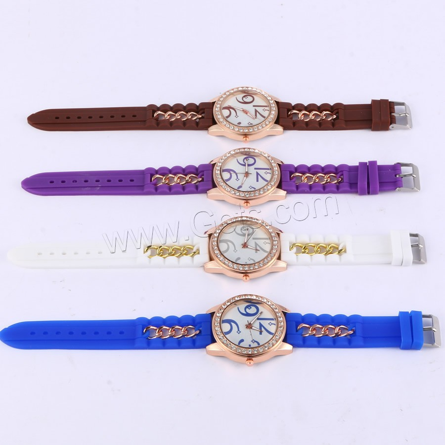 rose gold color plated watch Women Wrist Watch with rhinestone
