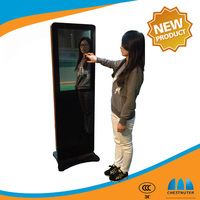 32inch magic mirror totem lcd advertising displayer lcd media player digital signage