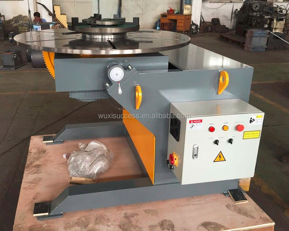 1t welding positioner with 3 jaw chucks 1000kg rotation welding table
