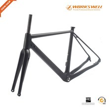 Wholesale Hot sell Chinese Carbon Road Bike Frame Flat Mount Disc Brake Cyclocross Road Bicycle Frame