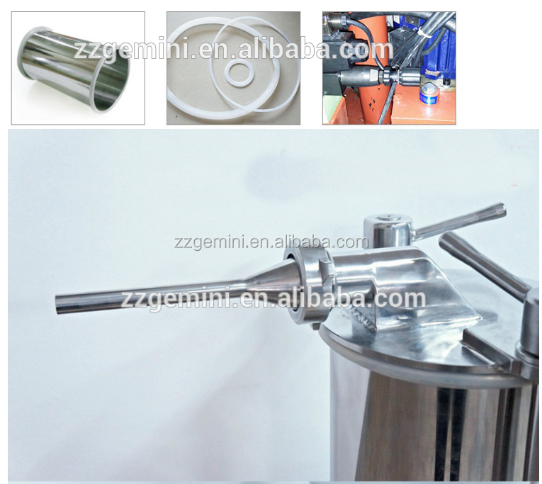 Stainless steel 304 best quality hydraulic sausage stuffer