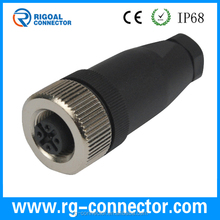 Shenzhen connector m12 assembly 4 pin automotive connector cable