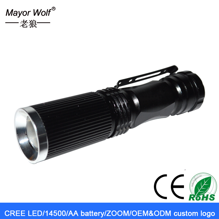 Adjustable focus zoom torch cree Xml L2 <strong>U2</strong> flashlight torch,mini <strong>led</strong> flashlight with Clip