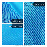 100% polyester 3-5mm 3D air mesh fabric