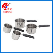 Promotion Gift Stainless Steel 4 pcs Turkish Coffee Warmer milk pot set