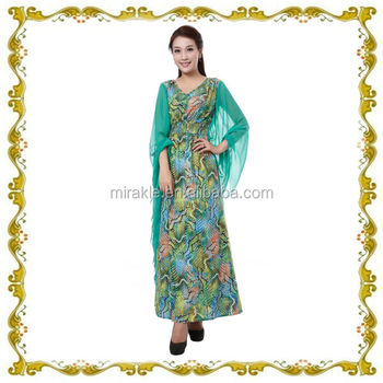 MF21533 young and modern printing muslim kaftan for 2014
