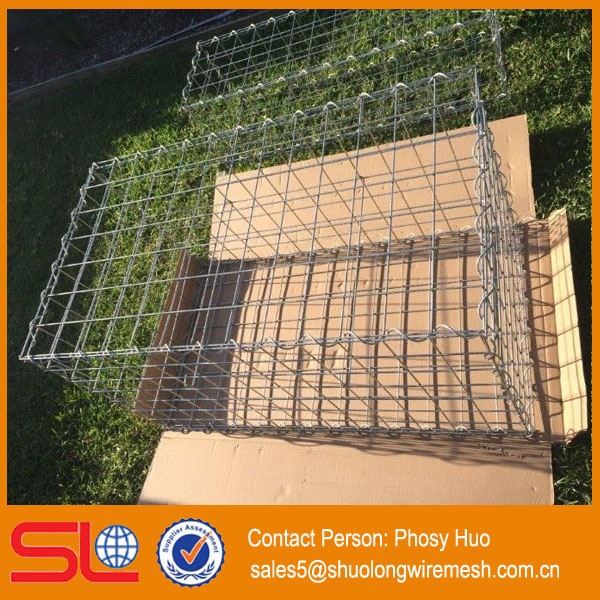 High quality Cheap Price Welded mesh gabion basket / welded gabions for yard decoration