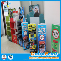 custom screen printing advertising corriboard display rack